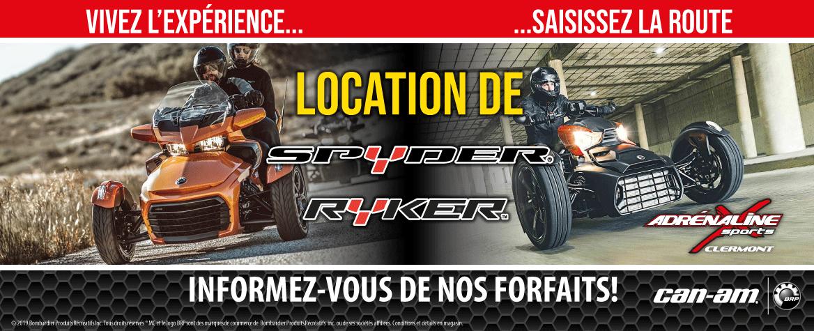 Location Spyder et Ryker