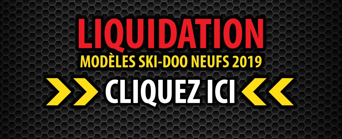 Liquidation Ski-Doo 2019